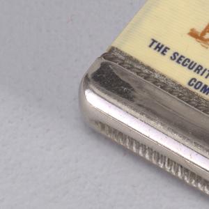 The Security Lightning Rod Company Matchsafe, 20th century