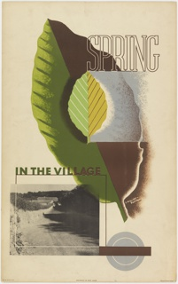 Poster, Spring in the Village, 1936