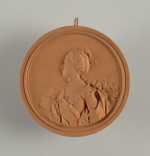 reproduction portrait medallion: mme de Flesselle (nee Gravier de Libri)