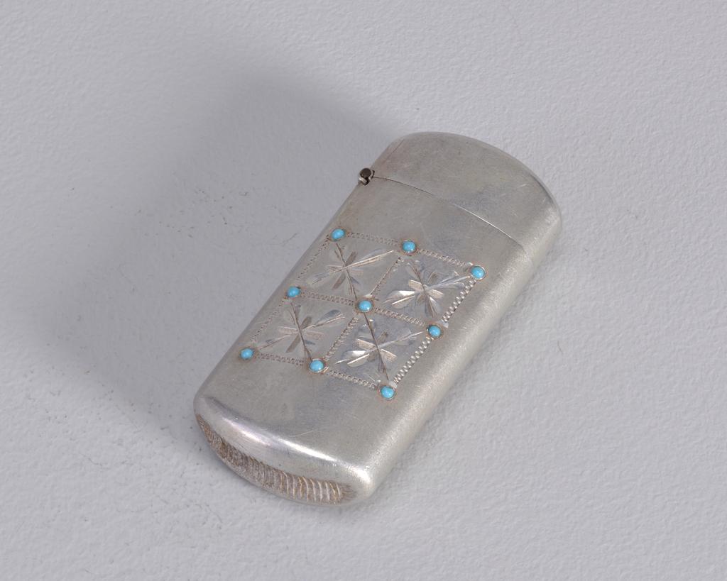 Aluminum with Glass Beads Matchsafe