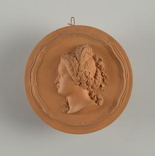 reproduction portrait medallion: Tucomin (?), Dite la dame aux plumes
