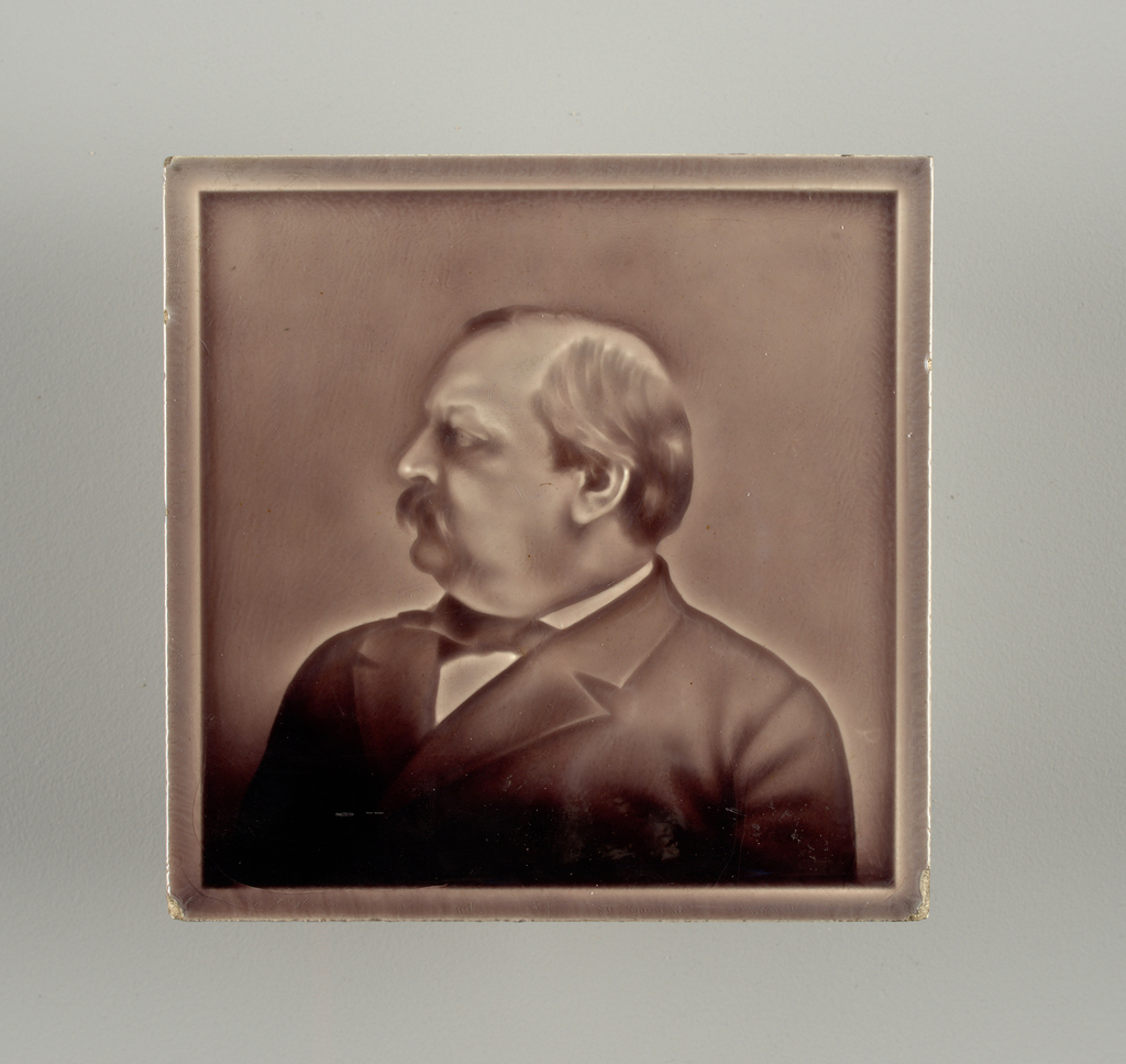 "Front surface has ""intaglio"" portrait profile of President Grover Cleveland"