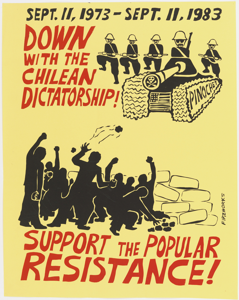 Poster, Down With The Chilean Dictatorship!