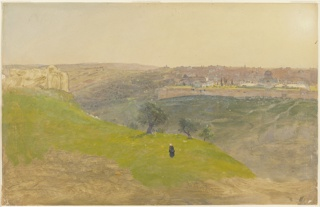 Drawing, Jerusalem from the Mount of Olives