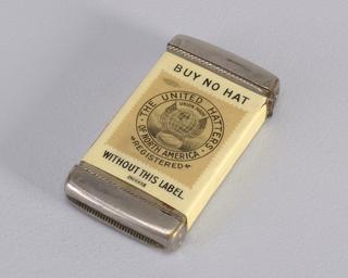 """""""United hatters"""" made by Whitehead & Hoag Co., Newark, NJ"""